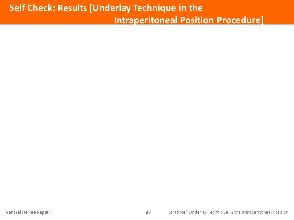 Self Check: Results [Underlay Technique in the